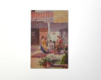 Vintage Barcelona Postcard.  Circa 1930's.  Spain.