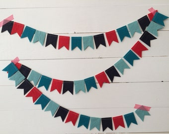 Mini Felt Garland {stiffened felt} - swallow tail bunting