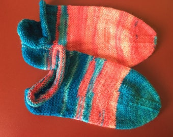 Socks, Sneakersocken, hand-knitted Gr. 34/35