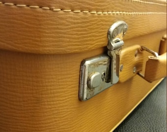 Golden beige Vintage suitcase