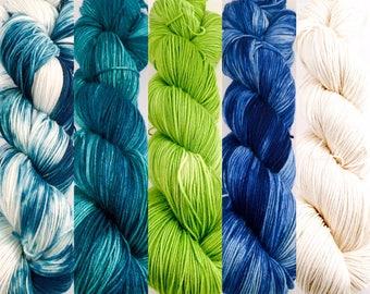 Sock Yarn Kit, Sweater Set, Sweater Kit, Sweater's Quantity of Yarn, Sock Yarn Bundle