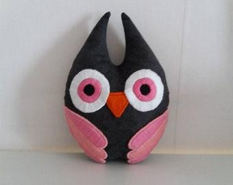 Owl Plush - Stuffed Animal - Handmade Plush - Owl Plushie - Decor - Handmade Owl