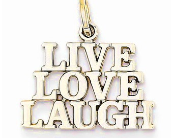 Live Love Laugh Charm (D1092)