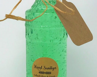 Gifted Glass Hand Sanitizer in Cork Bottle
