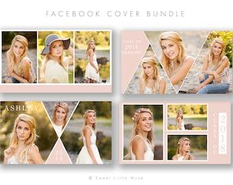 Senior Facebook Timeline Cover Bundle, timeline cover templates, Facebook Senior Photography Timeline Cover - timeline templates