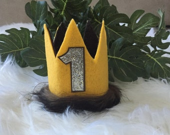 Wild Things Wild One Inspired Max 1st Birthday Crown First Birthday Crown Party Hat