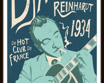 Django Reinhardt by Elliot Griffin Limited Edition Print