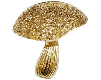 VINTAGE - mushroom brooch