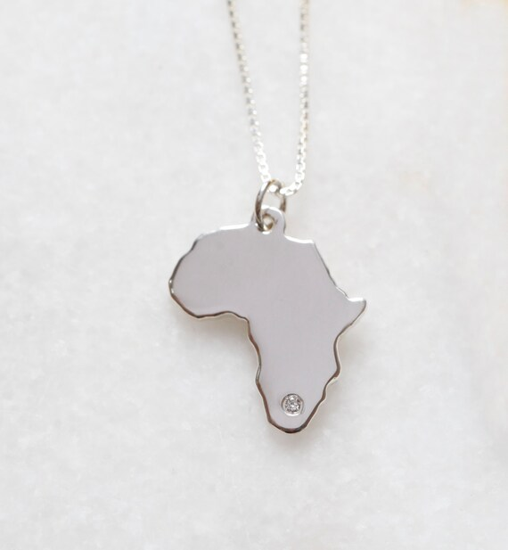 Sterling silver africa frances and co small sterling silver africa diamond chain audiocablefo