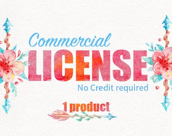 Limited Commercial License NO Credit required / SINGLE product