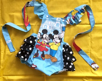 Vintage Mickey Mouse and Minnie Disney Romper