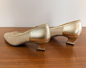 California Magdesians Gold Mesh Heel 9.5