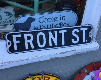 Antique Front St Sign From Leadville ,  Colorado