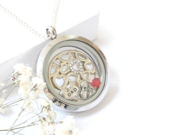In Memory of Dad Memorial Jewelry, Sympathy Gift Father Guardian Angel, Daddy Remembrance Necklace, Father Memorial Gift, Daddy In Heaven