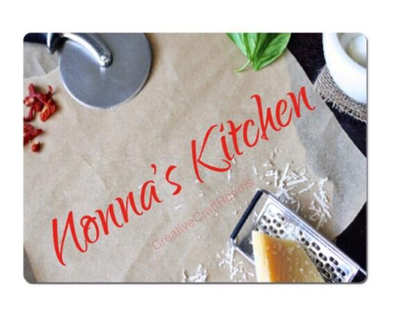 Nonna Kitchen Glass cutting board, Nonna's Kitchen glass cutting board, Nonna's cutting board, Nonna's chopping board