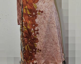 Indian double layer wrap skirt M #354