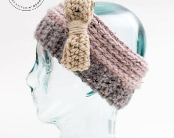 PDF Crochet Pattern - Oatmeal Cookie Headband Earwarmer