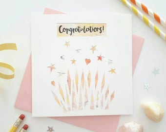 Congratulations card - Well done card - Celebration card - Wedding card - New job card - New home card - You did it card - Driving test card