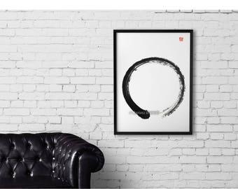 Enso, Zen Painting, Zen, Zen Art, Minimalist Artwork, Buddhist Style, Surreal, Meditation