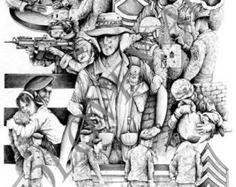 Backbone  by artist Michael Solovey NCO's Backbone of the US Military
