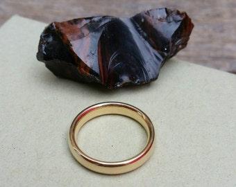 Vintage, 4mm 14k Gold Women's Comfort  Fit Wedding Band, Gold Wedding Band, Gold Wedding Ring, Simple Gold Band, Wedding Ring, Gold Ring