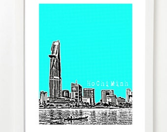 Ho Chi Minh City Poster - Vietnam City Skyline Art Print - City Art