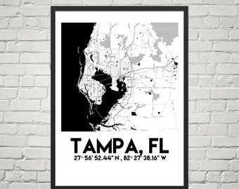Map Poster of Tampa, FL (Instant Download)