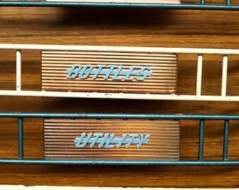 Set of 4 Original Retro Metal Fridge  Sheves