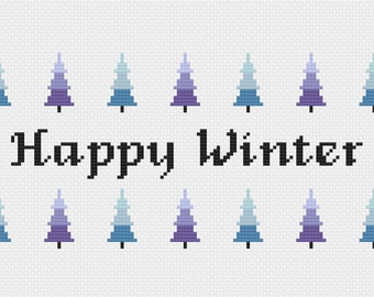 Happy Winter - Cross Stitch Pattern