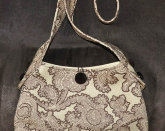Yellow and Brown Paisley Purse