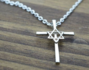 David cross etsy star of david cross pendant in sterling silver aloadofball Gallery