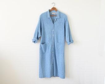 90s light weight denim coat / vintage jean jacket / oversize denim coat