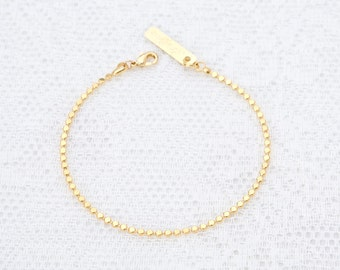 Dainty Gold Bracelet, Delicate Gold Chain Bracelet, Layered Bracelet, Bridesmaid Gift, 24k Gold or Silver Plated Jewelry.