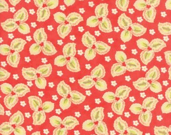 Hazel and Plum Fabric by Fig Tree from Moda - Three Leaves Pomegranate