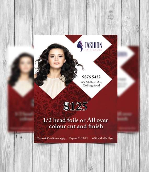 Printable Flyer Template Hair Salon Flyer Beauty Salon Flyer