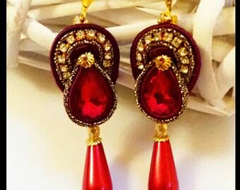 New Soutache earrings. Long chandelier earrings.