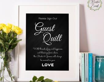 Wedding Guest Book Quilt / Wedding Quilt Sign / Patchwork Quilt / rainbow quilt / Wedding Guest Book Alternative / Wedding Quilt Idea /