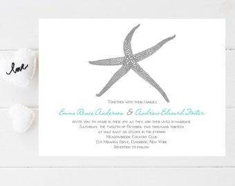 Beach Wedding Invitations - Sample