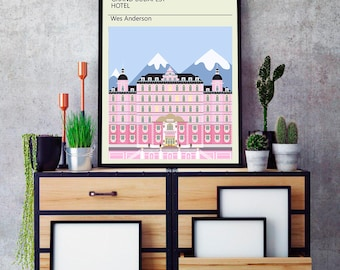 Grand Budapest Hotel Poster, Grand Budapest Hotel Minimalist print, Wes Anderson Art, Wes Anderson Print, Grand Budapest art, Grand Budapest