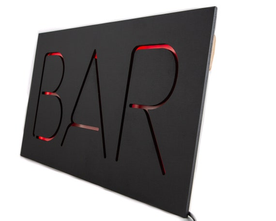Man Cave Gifts Adelaide : Bar led neon style sign man cave perfect wall art