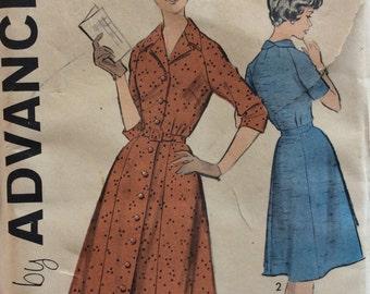 Advance 9237 vintage 1950's misses shirtwaist dress sewing pattern bust 48   Uncut  Factory folds