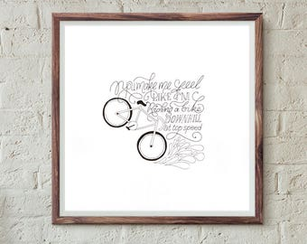 Love like Riding a Bike 5x5 Art Print for Lovers