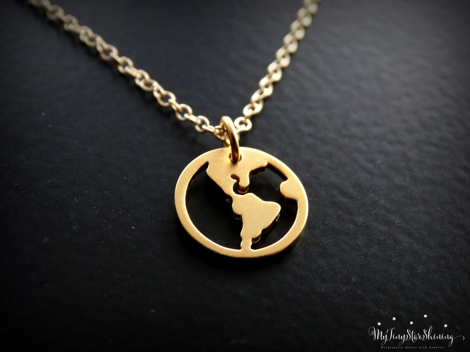 World map necklace 24k gold vermeil travel necklace gold globe world map necklace 24k gold vermeil travel necklace gold globe pendant traveler jewelry world charm gold filled necklace gumiabroncs Image collections