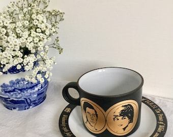 Commemorative Hornsea cup snd saucer celebrating the wedding of lady Diana and Prince Charles. 1981.