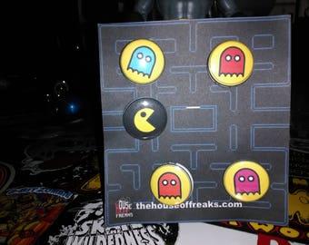 Pacman Button Set