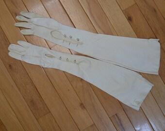 Abraham & Straus Vintage Kid Leather Opera Gloves