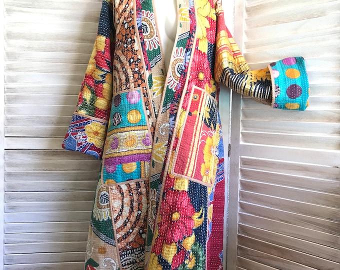 Artist reversible coat of many colors