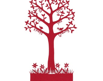 LESS than HALF PRICE Love Tree - a signed giclee print taken from an original hand cut paper cut by Loula Belle At Home