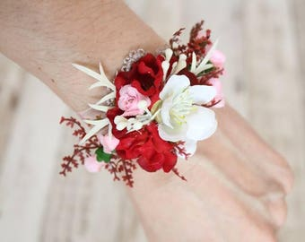 Wrist corsages - I love you