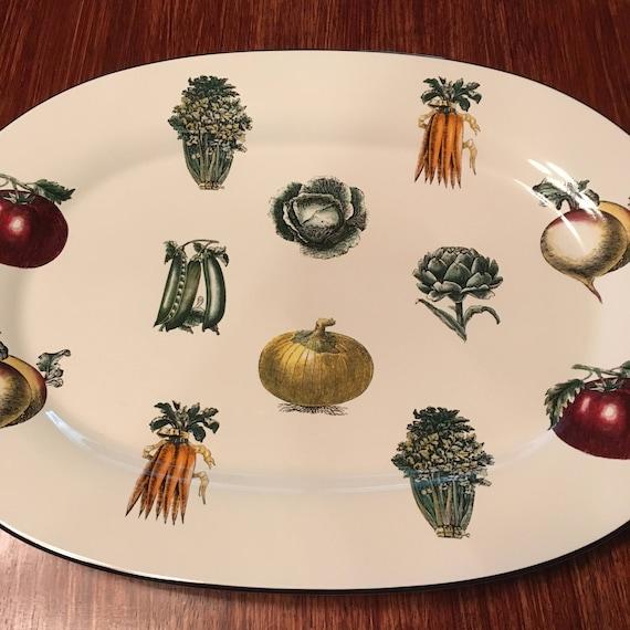 Paltzgraff Farmers Market Colored Vegetables 14 5/8 Oval Platter